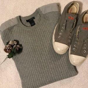 Calvin Klein men's grey ribbed crewneck sweater L